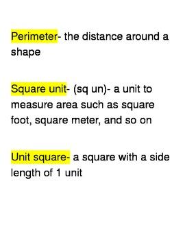 Go Math Third Grade Vocabulary Unit 5