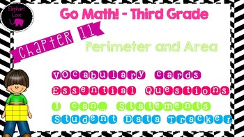 Go Math! Third Grade Word Wall/ Vocabulary Cards- Chapter 11