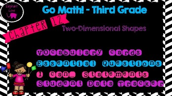 Go Math! Third Grade Word Wall/ Vocabulary Cards- Chapter 12