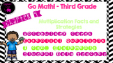 Go Math! Third Grade Word Wall/ Vocabulary Cards- Chapter 4