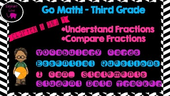 Go Math! Third Grade Word Wall/ Vocabulary Cards- Chapters 8 and 9