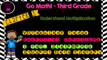 Go Math! Third Grade Word Wall/ Vocabulary Chapter 3