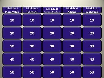 Go Math Unit 1 Jeopardy Game