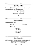 Go Math Unit 5 Exit Tickets