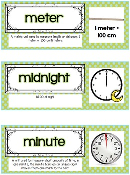 Go Math Vocab Word Wall Cards {75 Second Grade Words}{Common Core Aligned}