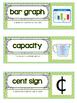 Go Math Vocab Word Wall Cards {All 161 Third Grade Words}{