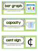 Go Math Vocab Word Wall Cards {All 161 Third Grade Words}{