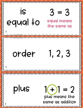 Go! Math Vocabulary - Bright Polka Dot (1st Grade)