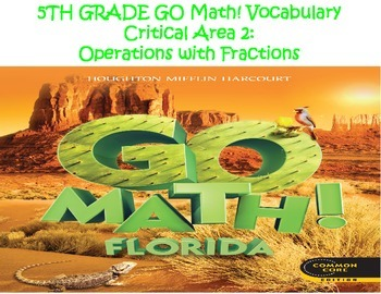 Go Math! Vocabulary Cards Chapters 6-8