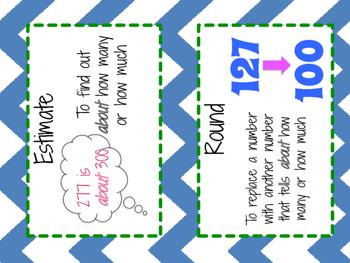 Math Vocabulary Cards Grade 4