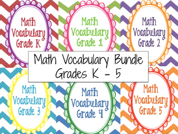 Math Vocabulary Cards Ultimate Bundle