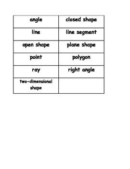 Go Math Vocabulary Match, 3rd Grade, Chapter 12