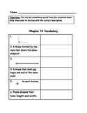 Go Math Vocabulary Match, 3rd Grade, Chapter 12