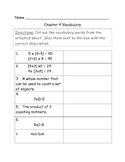 Go Math Vocabulary Match, 3rd Grade, Chapter 4