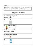 Go Math Vocabulary Match, 4th Grade, Chapter 12