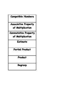 Go Math Vocabulary Match, 4th Grade, Chapter 3