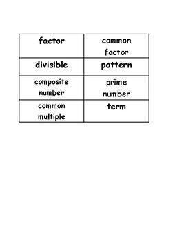 Go Math Vocabulary Match, 4th Grade, Chapter 5