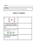 Go Math Vocabulary Match, 4th Grade, Chapter 6