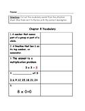 Go Math Vocabulary Match, 4th Grade, Chapter 8