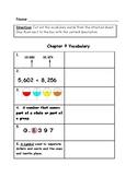 Go Math Vocabulary Match, 4th Grade, Chapter 9