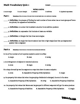 Go Math Vocabulary Pack