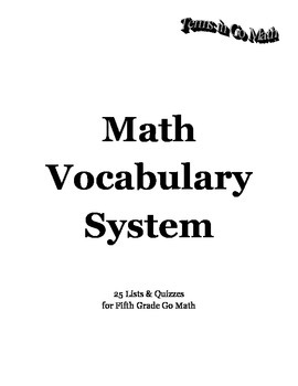 Go Math Vocabulary Pack
