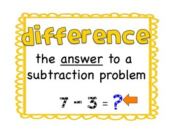 Go-Math Vocabulary Posters 1st Grade