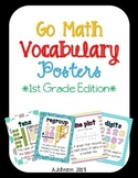 Go Math Vocabulary Posters {1st Grade Edition} 2012