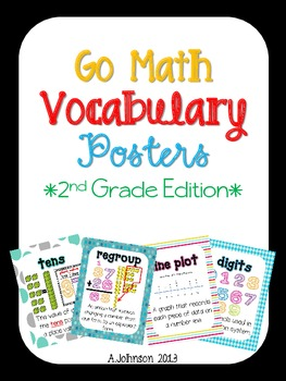 Go Math Vocabulary Posters {2nd Grade Edition} 2012