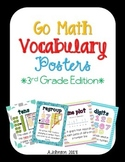 Go Math Vocabulary Posters {3rd Grade Edition} 2012