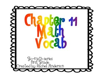 Go-Math Vocabulary Posters Chapters 11-12
