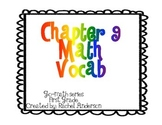 Go-Math Vocabulary Posters Chapters 9-10