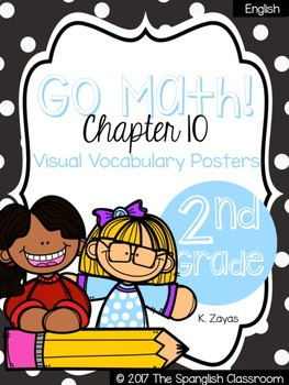 Go Math! Vocabulary Posters in English- Chapter 10