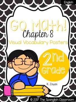 Go Math! Vocabulary Posters in English- Chapter 8