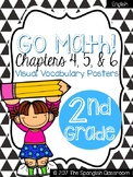 Go Math! Vocabulary Posters in English- Chapters 4, 5, & 6