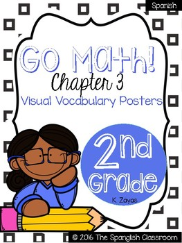 Go Math! Vocabulary Posters in Spanish- Chapter 3