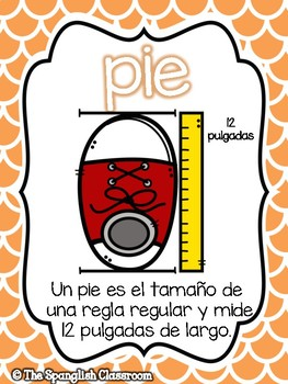 Go Math! Vocabulary Posters in Spanish- Chapter 8