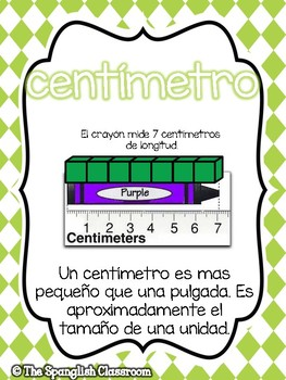 Go Math! Vocabulary Posters in Spanish- Chapter 9