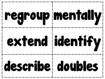 Go Math Vocabulary Word Cards