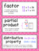 Go Math Vocabulary Word Wall Cards BUNDLE Chapters 1-6