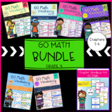 Go Math Vocabulary Word Wall Cards BUNDLE Chapters 1-6, Grade 4