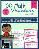 Go Math Vocabulary Word Wall Cards Chapter 10, 4th Grade