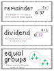 Go Math Vocabulary Word Wall Cards Chapter 4 - 4th Grade