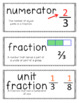 Go Math Vocabulary Word Wall Cards Chapter 6, Grade 4