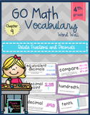 Go Math Vocabulary Word Wall Cards Chapter 9, Grade 4