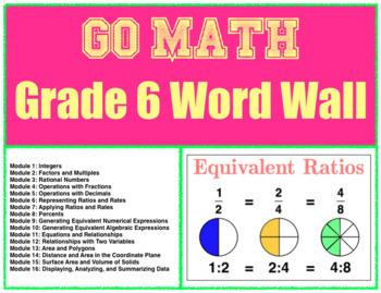 Go Math Word Wall