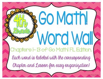 Go Math! Word Wall-4th Grade