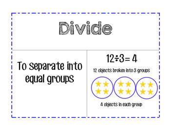 Go Math Word Wall - Division