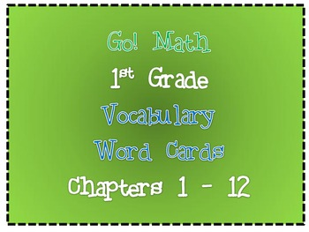 Go! Math : Word Wall Vocabulary Cards (1st Grade)