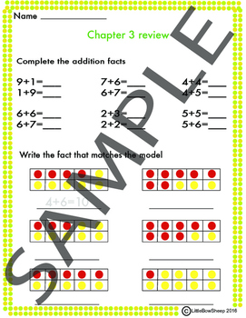 Go Math chapter 3 review packet 2nd grade